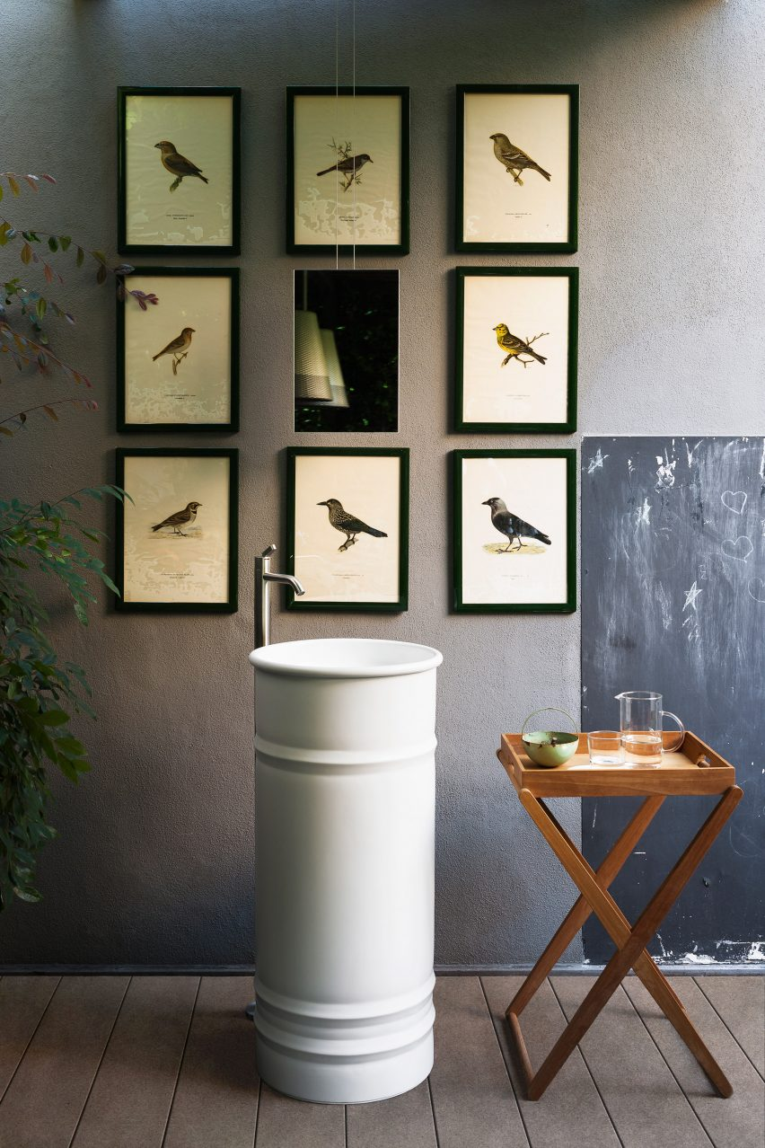 Vieques Outdoor sink by Patricia Urquiola for Agape