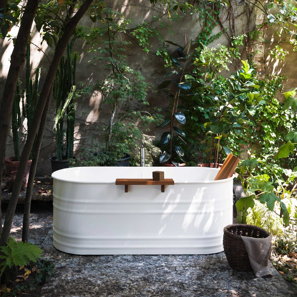 Vieques Outdoor bathroom collection by Patricia Urquiola for Agape
