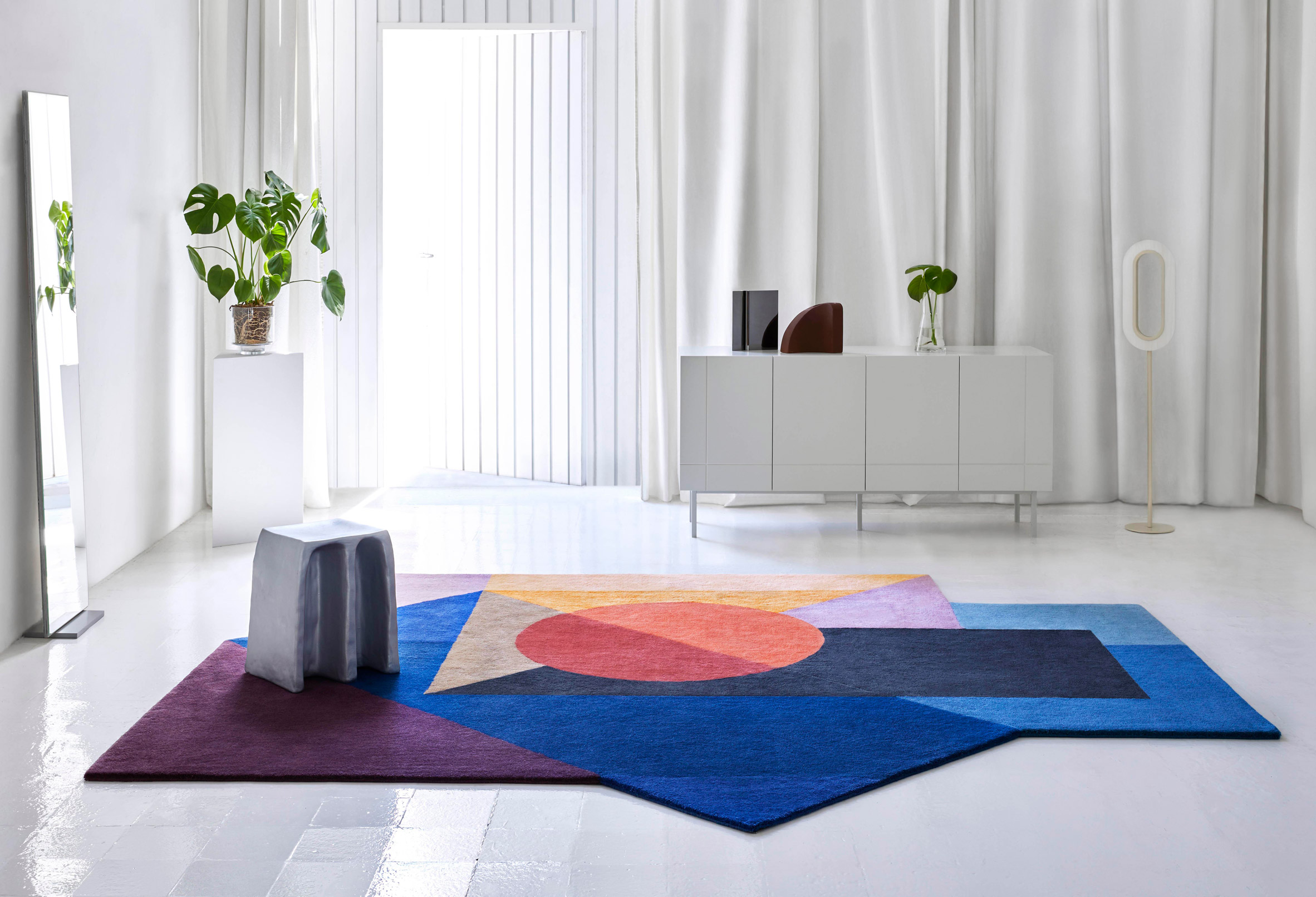 Zoe Kubb rug by Daria Zinovatnaya for Gan