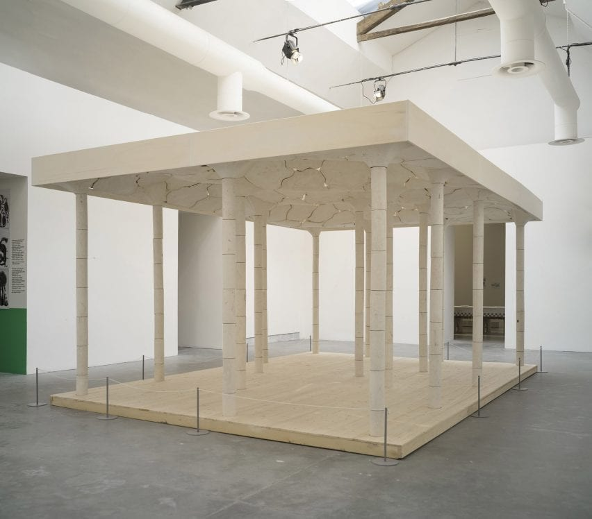 Stone installation by AAU Anastas as the Venice Architecture Biennale