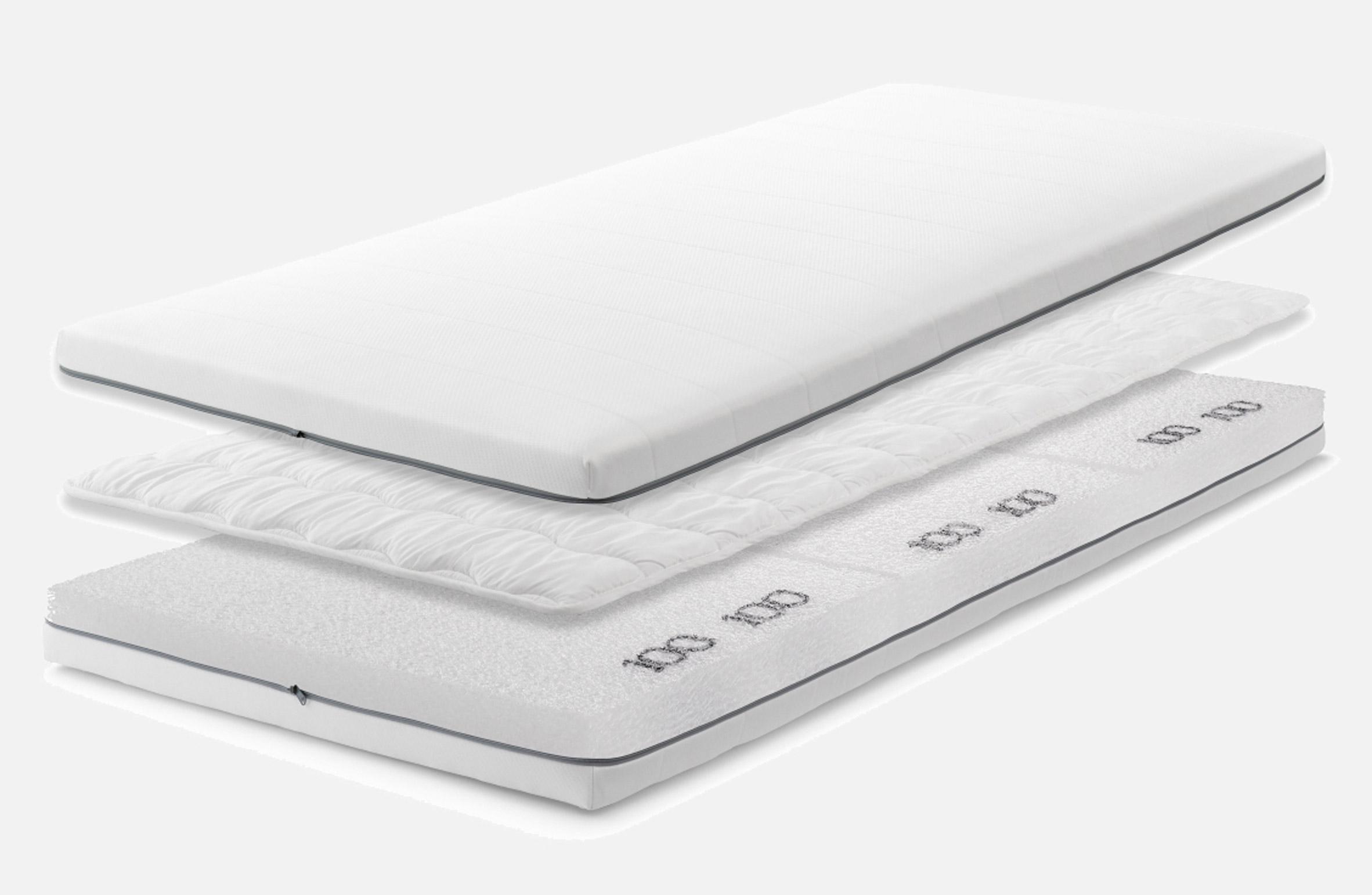 Three parts of the Airweave mattress