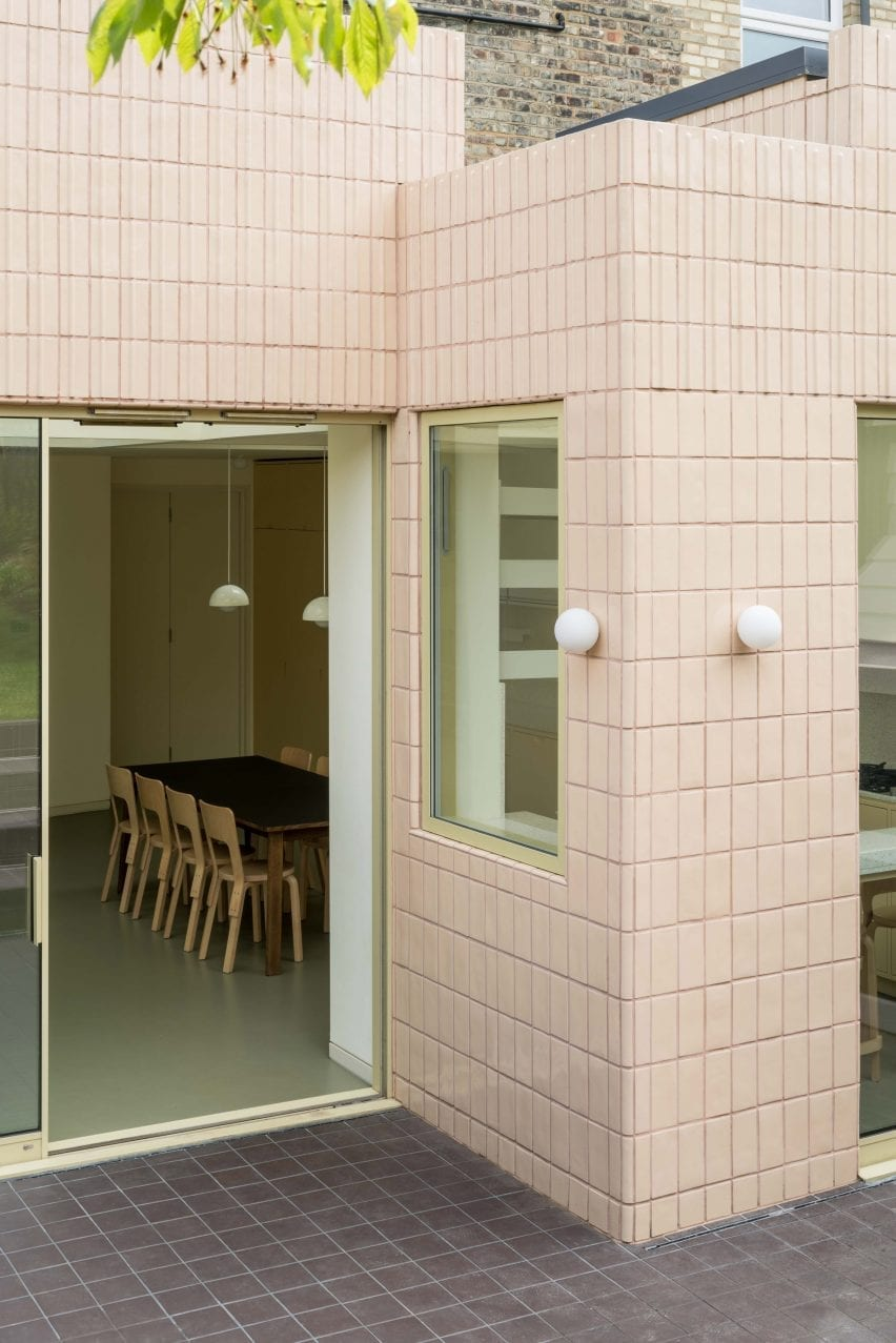 Pink tiles, Mount View house renovation by Archmongers