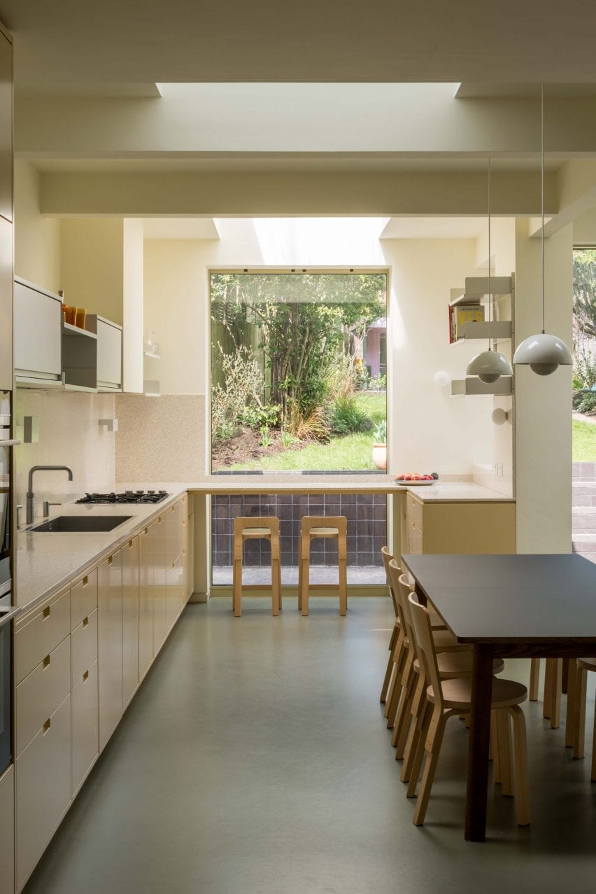 Kitchen window, Mount View house renovation by Archmongers