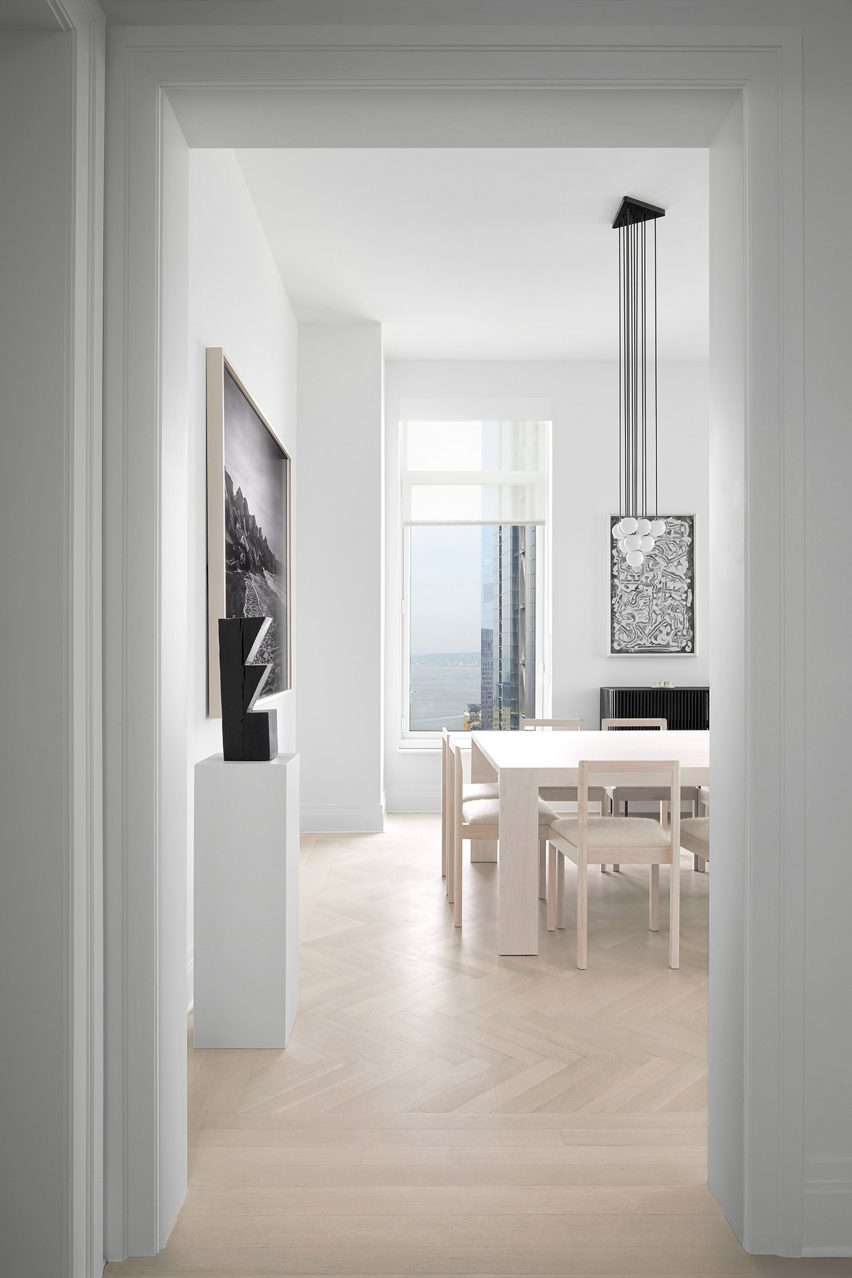 House with white interior