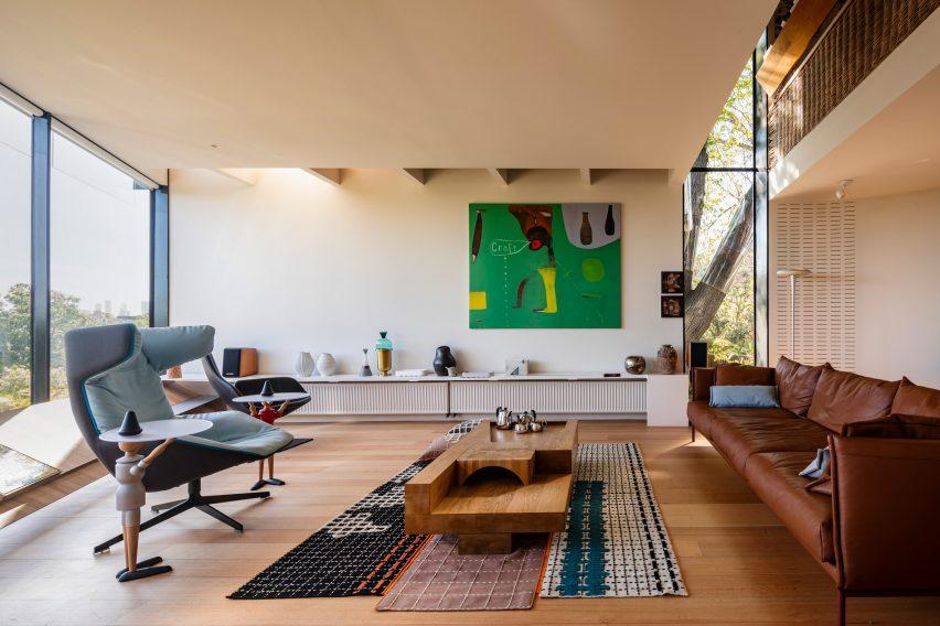 John Wardle's house has an ornate interior