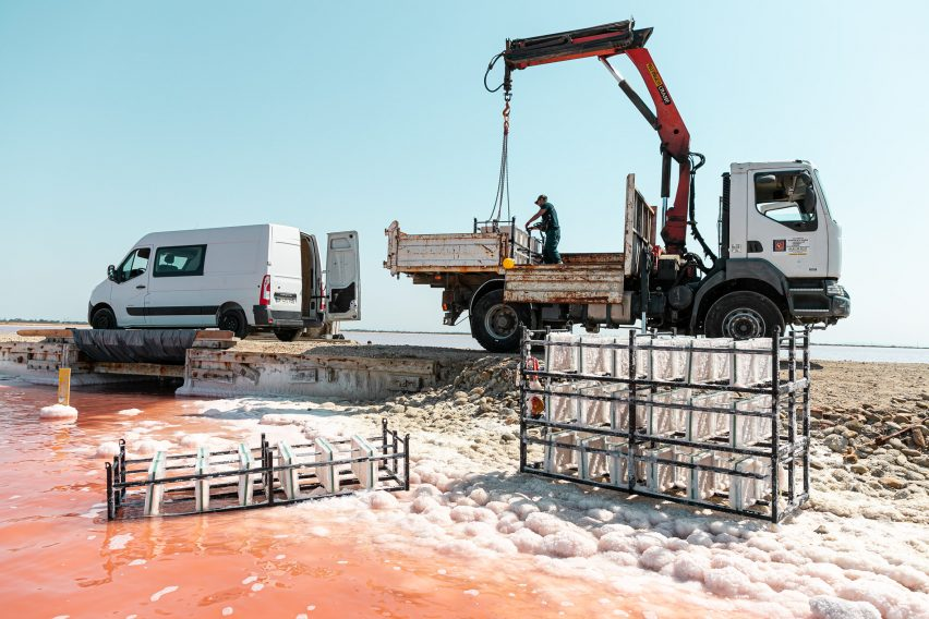 Salt being extracted in France