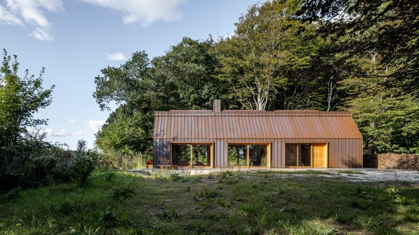 The Author's House by Sleth is a copper-clad cabin in Denmark