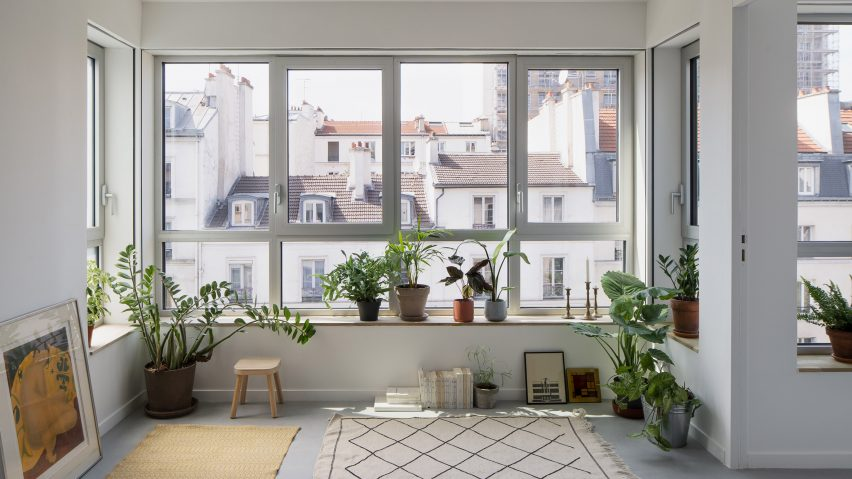 A home interior with plants