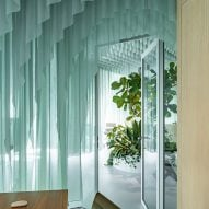 Glass doors provide privacy
