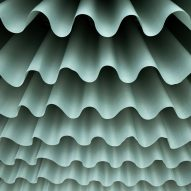 Fabric was draped in a ripple formation