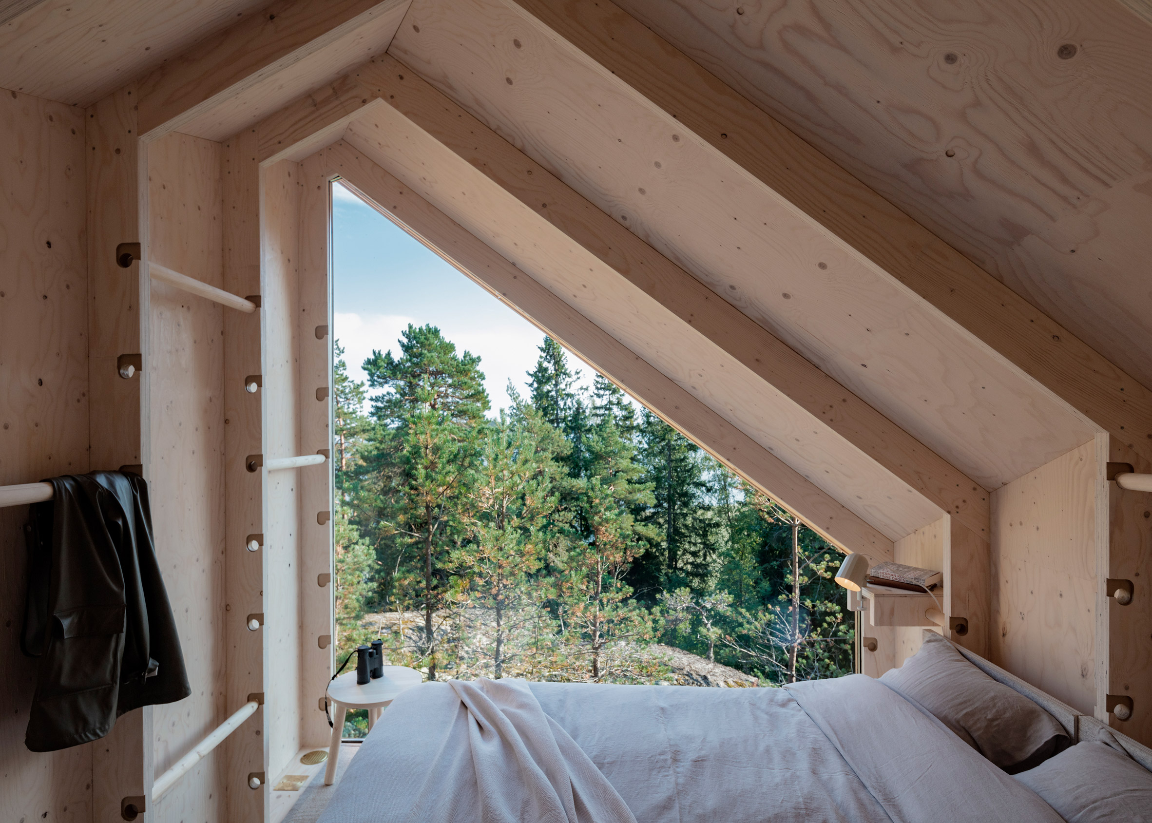 room with moveable pegs by studio puisto