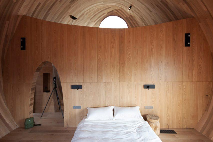 vaulted interior of ZJJZ Atelier
