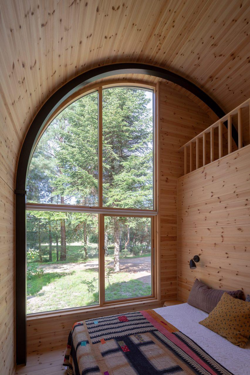 Barrel-vaulted room by Valbæk Brørup Architects