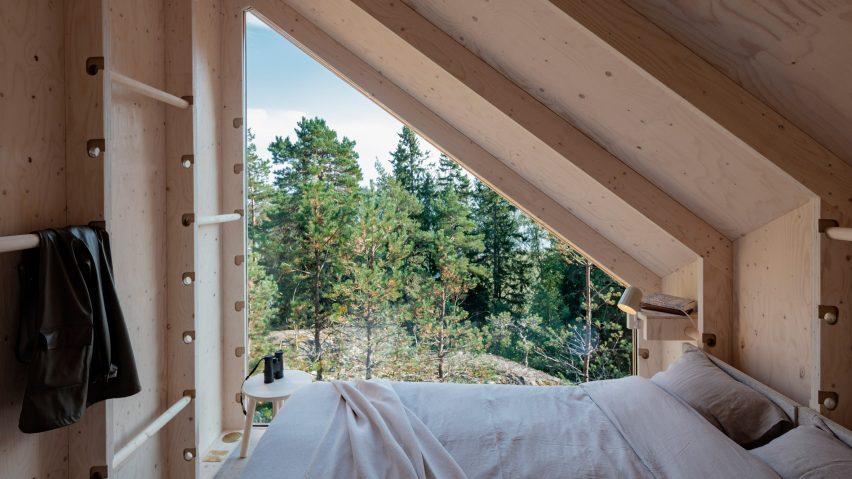 Bedroom overlooks the treeline