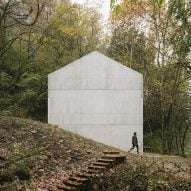 Carvalho Araújo completes monolithic concrete house in a Portuguese forest
