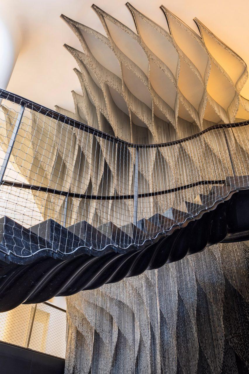 A staircase in Casa Batlló