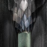 Kengo Kuma designs sculptural metal-mesh curtain for Gaudí's Casa Batlló