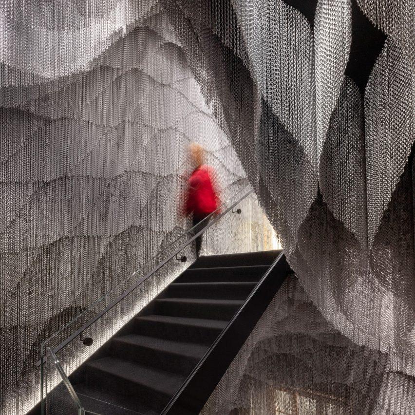 A stairwell inside Casa Battló