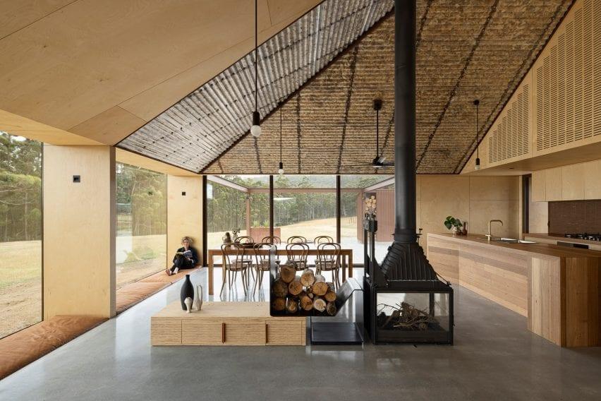 Coopworth house has a log burner