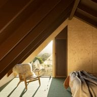 bedrooms were also placed in the roof