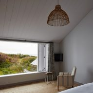 A white-walled bedroom