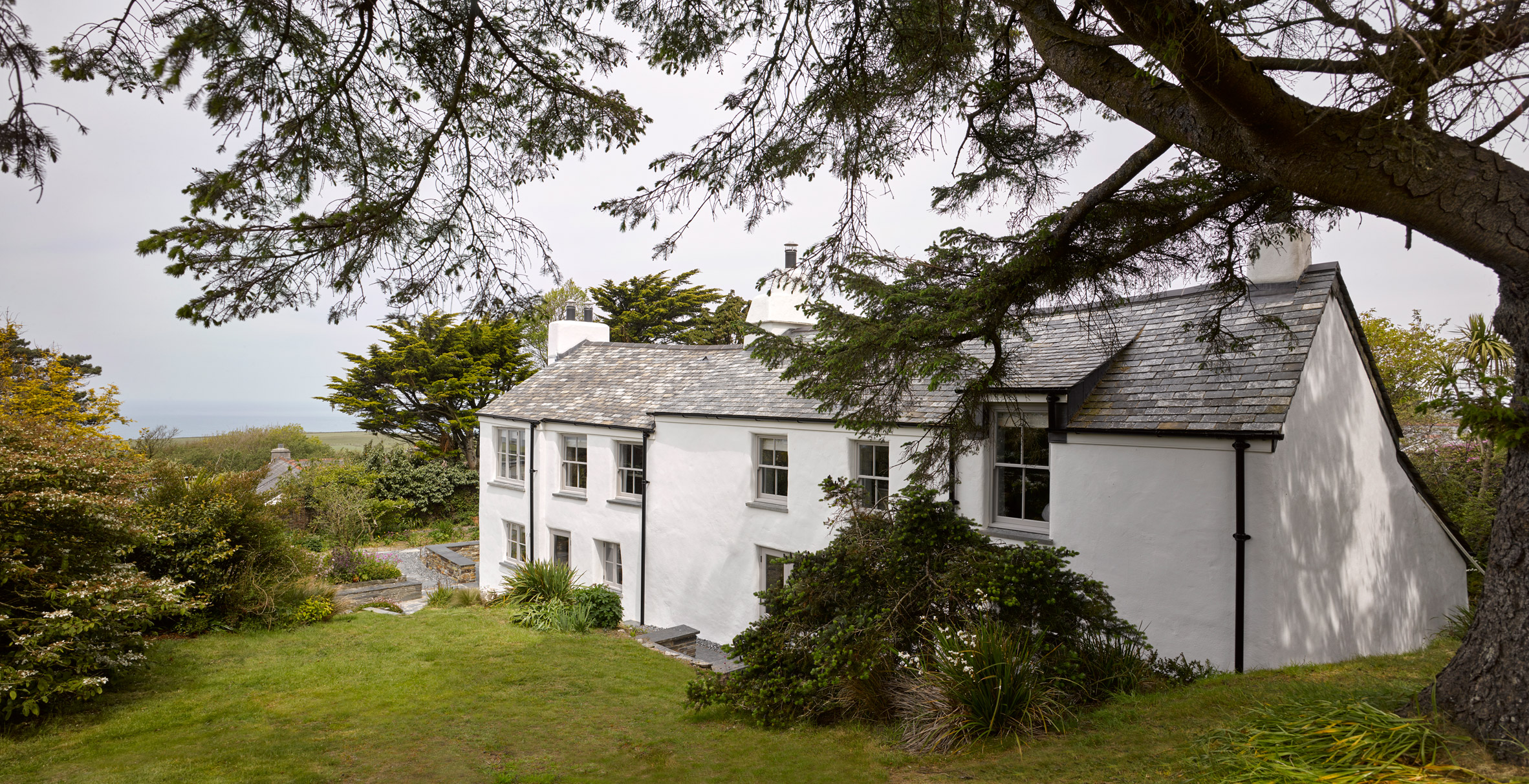 A white house in Cornwall