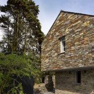 A stone-clad house extension