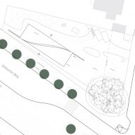 Site plan of Cube by Henn