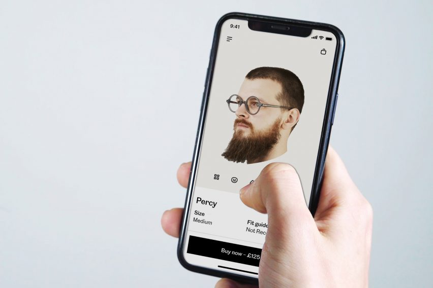 Cubitts app, completed scan with glasses