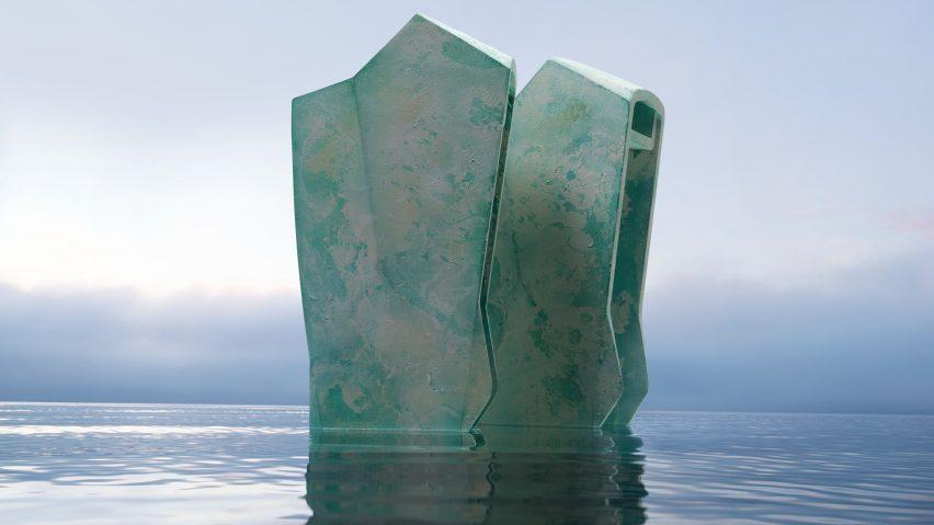 sruli recht's prosthetic shoes in water