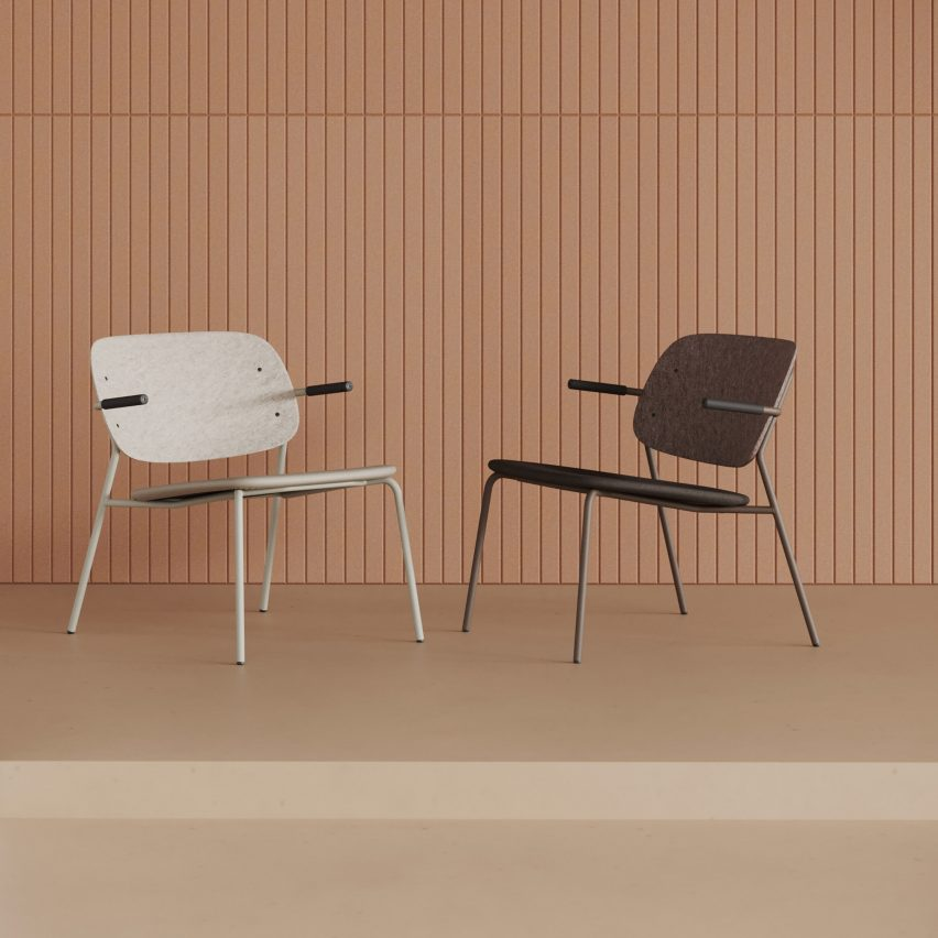 Hale PET Felt lounge chair by De Vorm