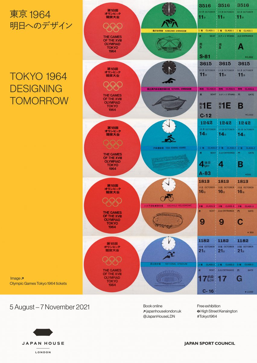 tokyo 1964 designing tomorrow exhibition poster