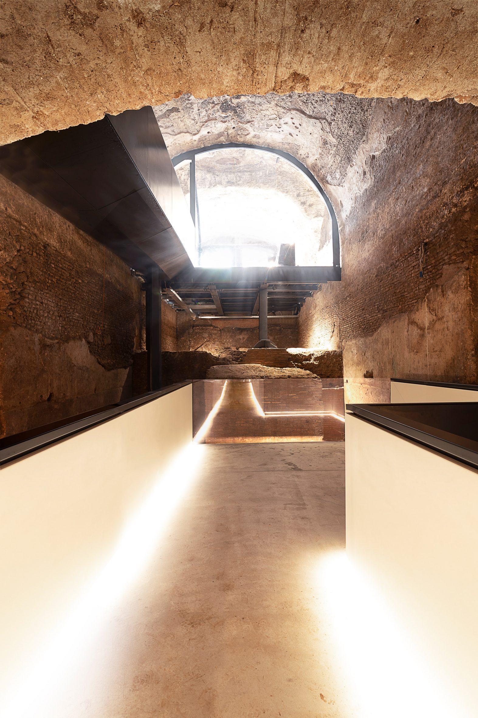 An entrance and walkway inside Domus Aurea