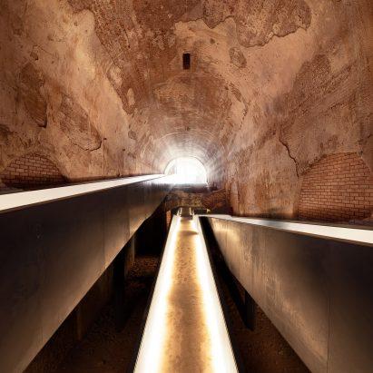 A walkway inside Domus Aurea