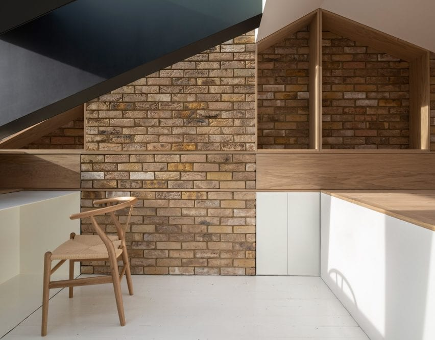 Home office in the London attic