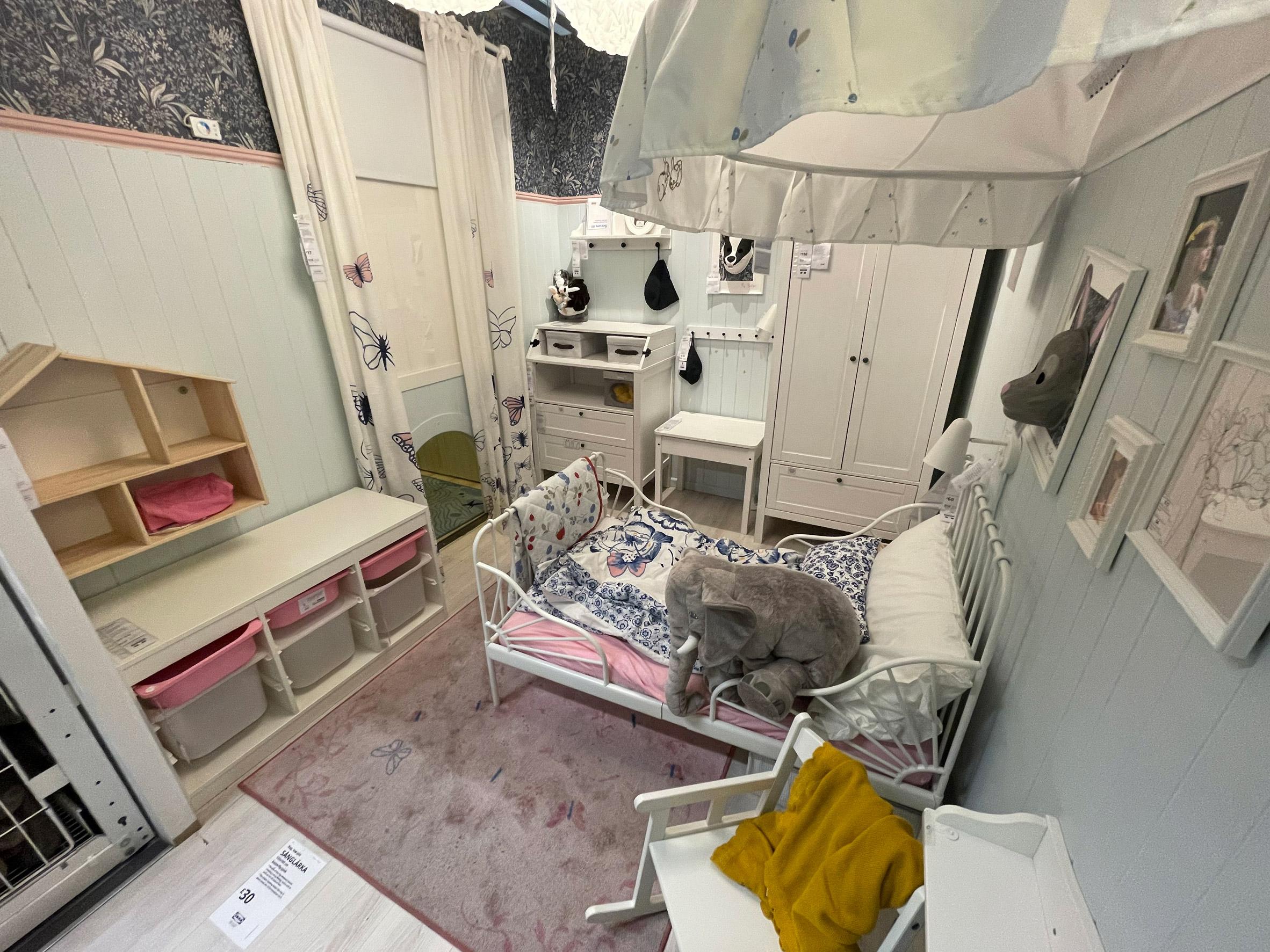 A model child's bedroom