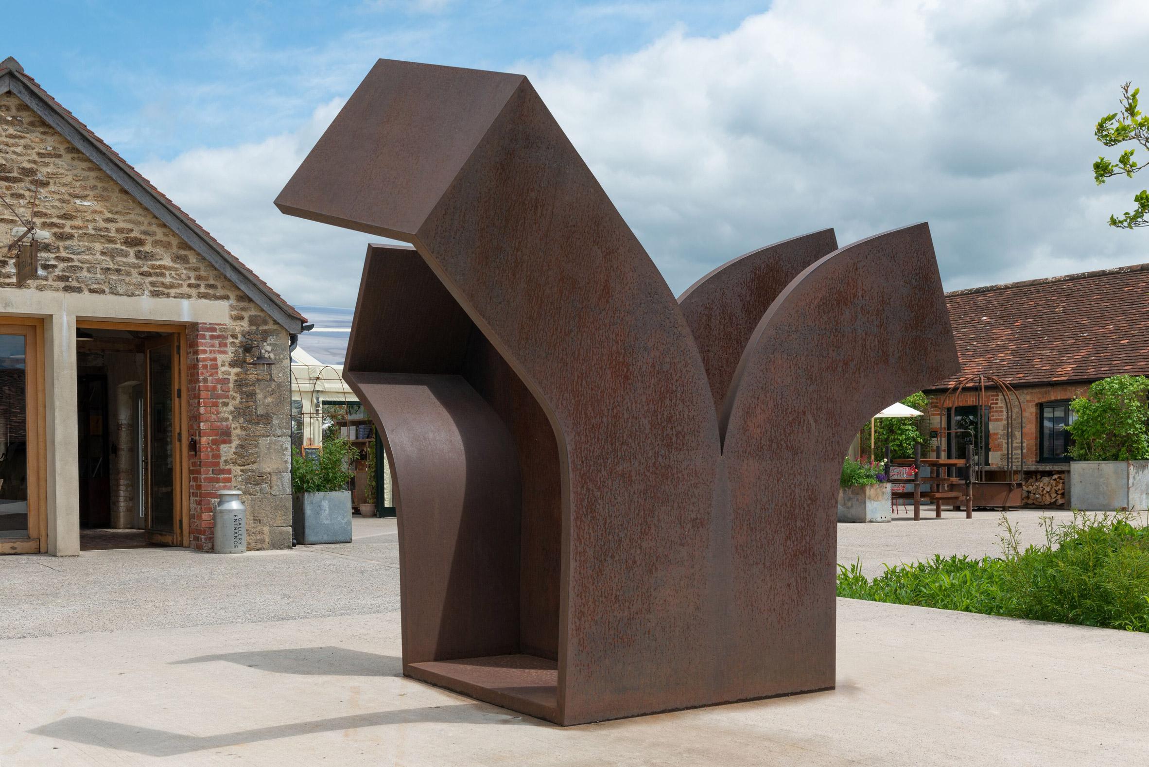 Chillida corten steel sculpture