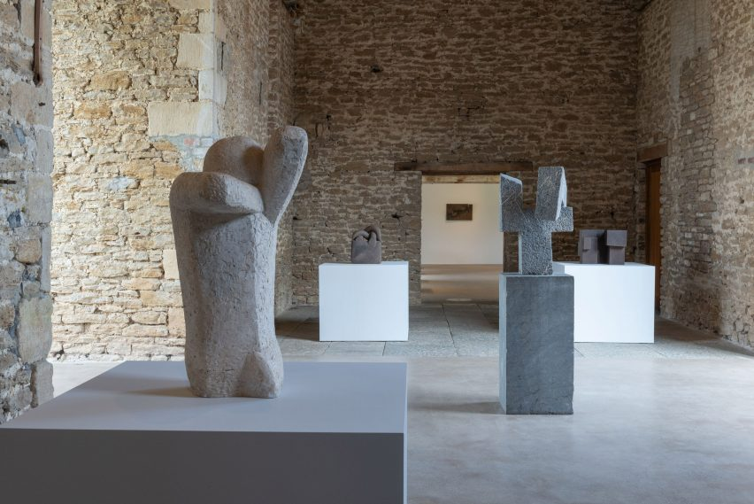 Stone sculptures created by Chillida