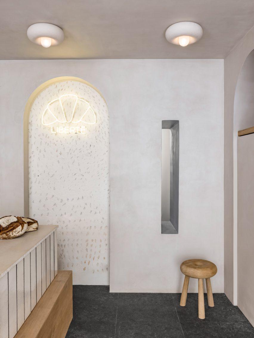Grey walled interiors