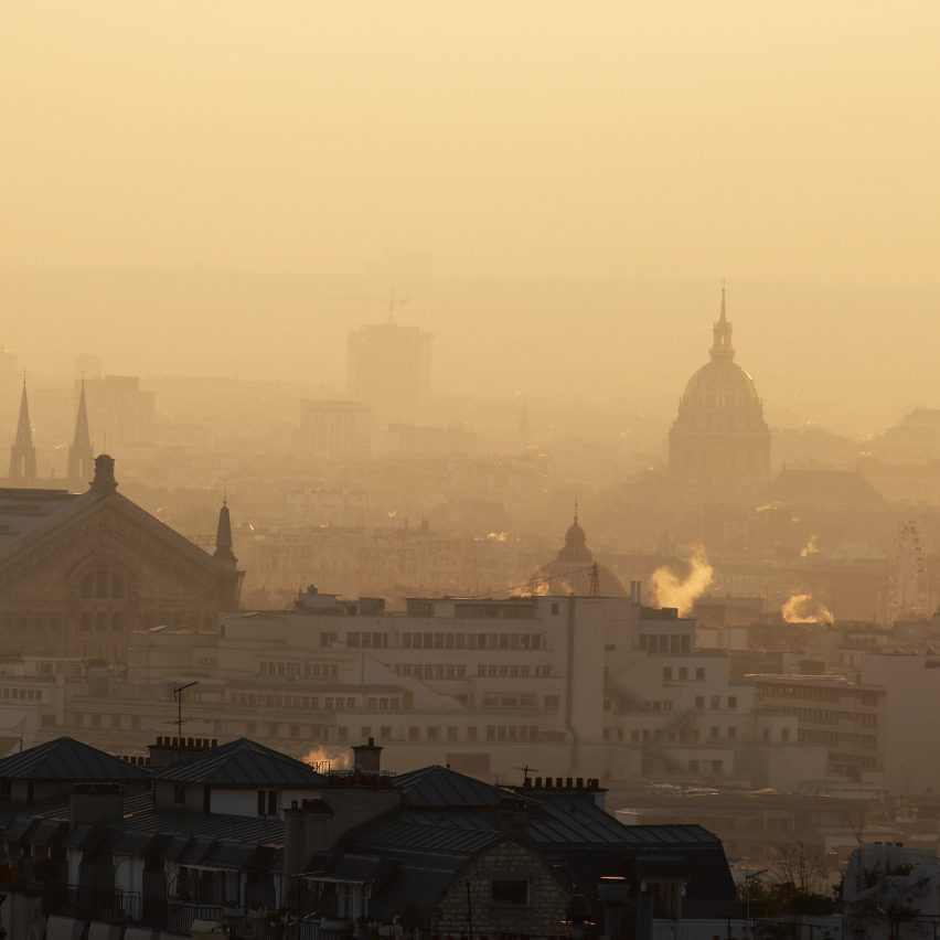 Paris engulfed in smog to illustrate EU emissions control proposal Fit for 55