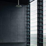 A black bathroom