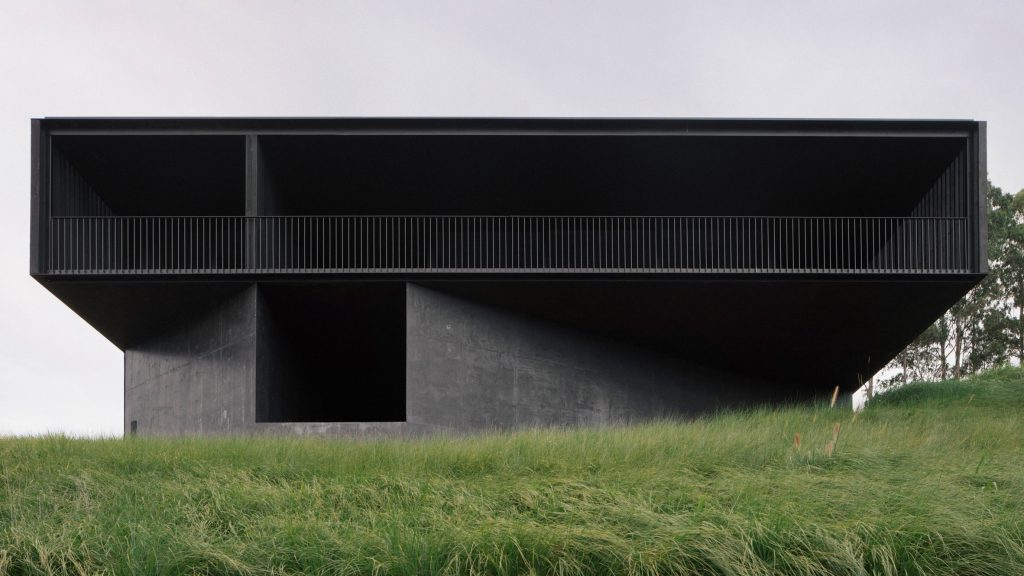 Edition Office completes black concrete home in rural Australia