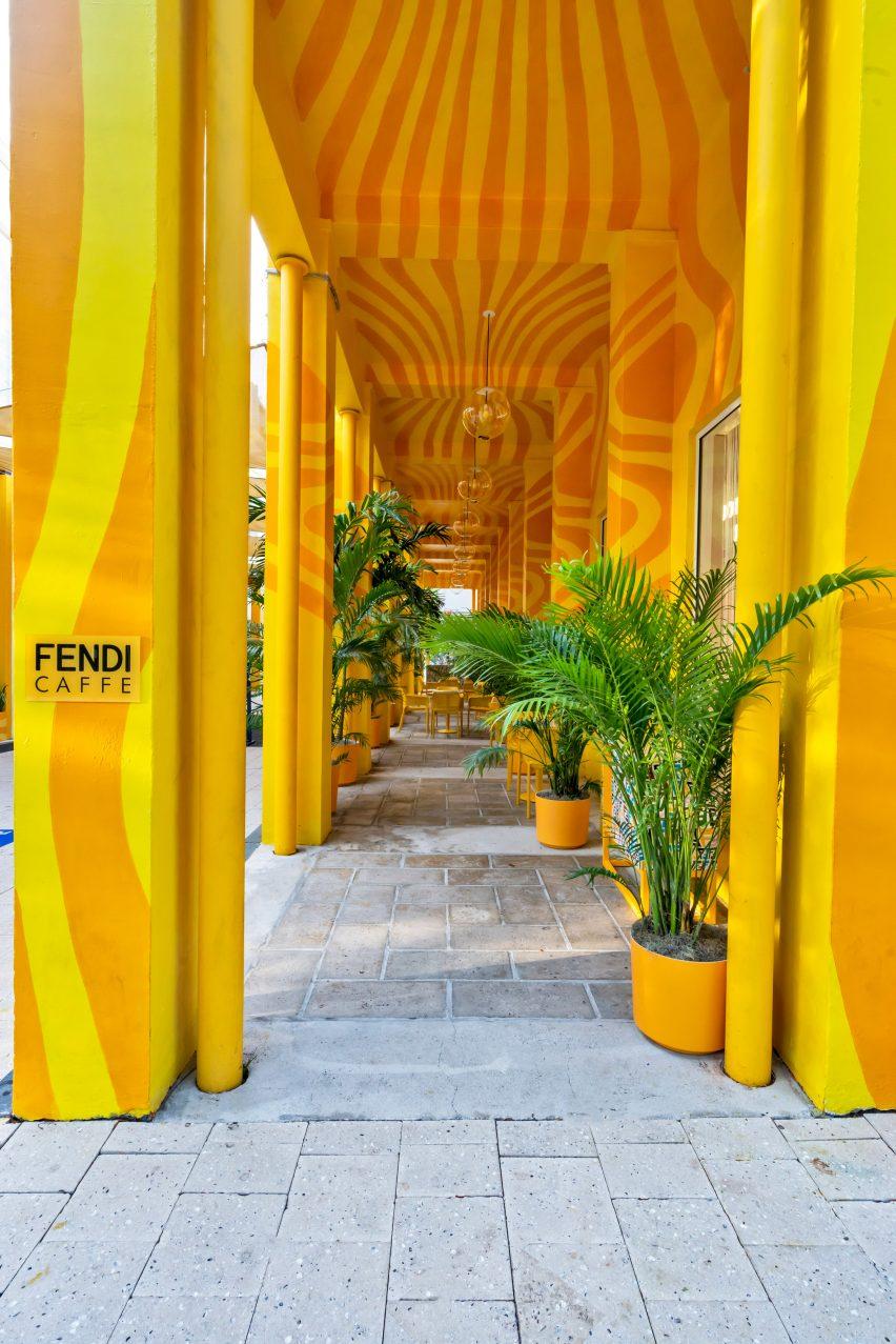Fendi Cafe was in Miami