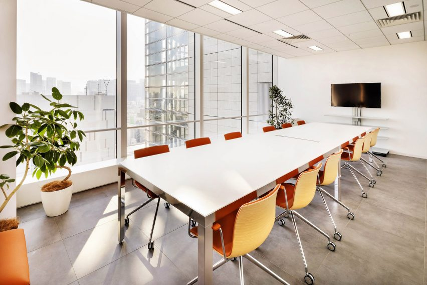 Cybernet headquarters meeting room