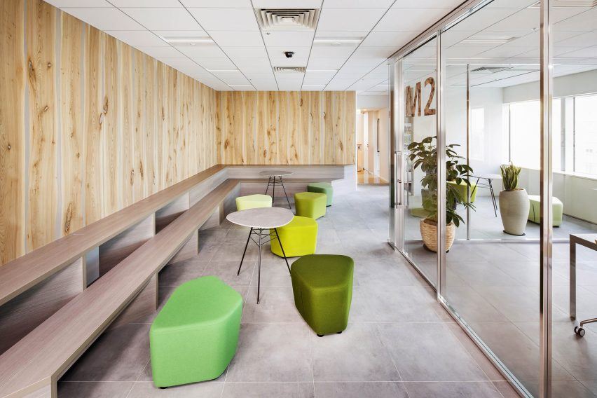 Cybernet headquarters lobby break-out space