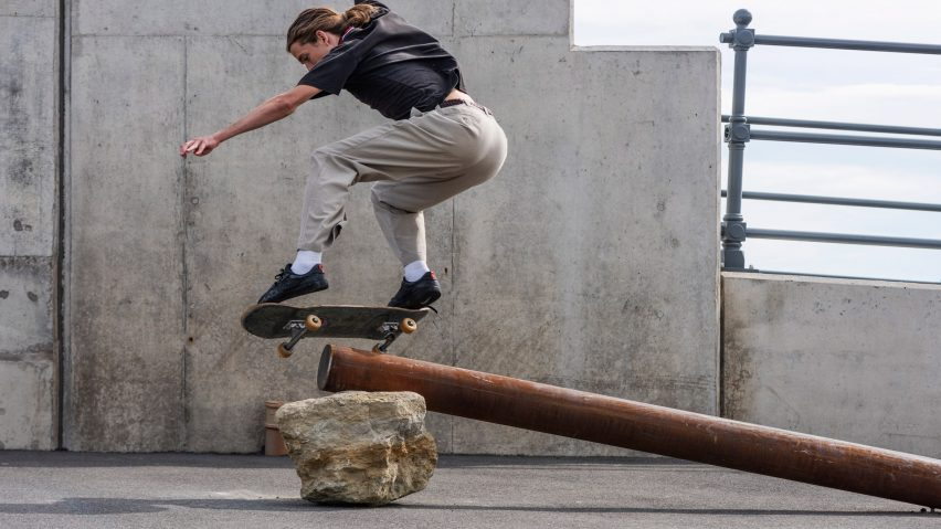 Skating Situations installation by Assemble at Folkestone Triennial 2021