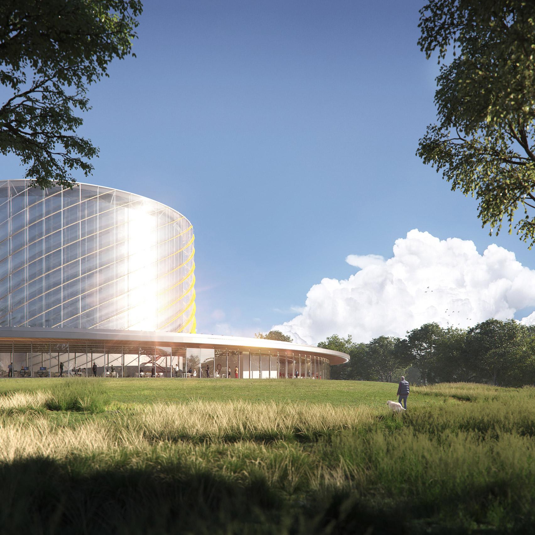 A circular nuclear fusion power plant