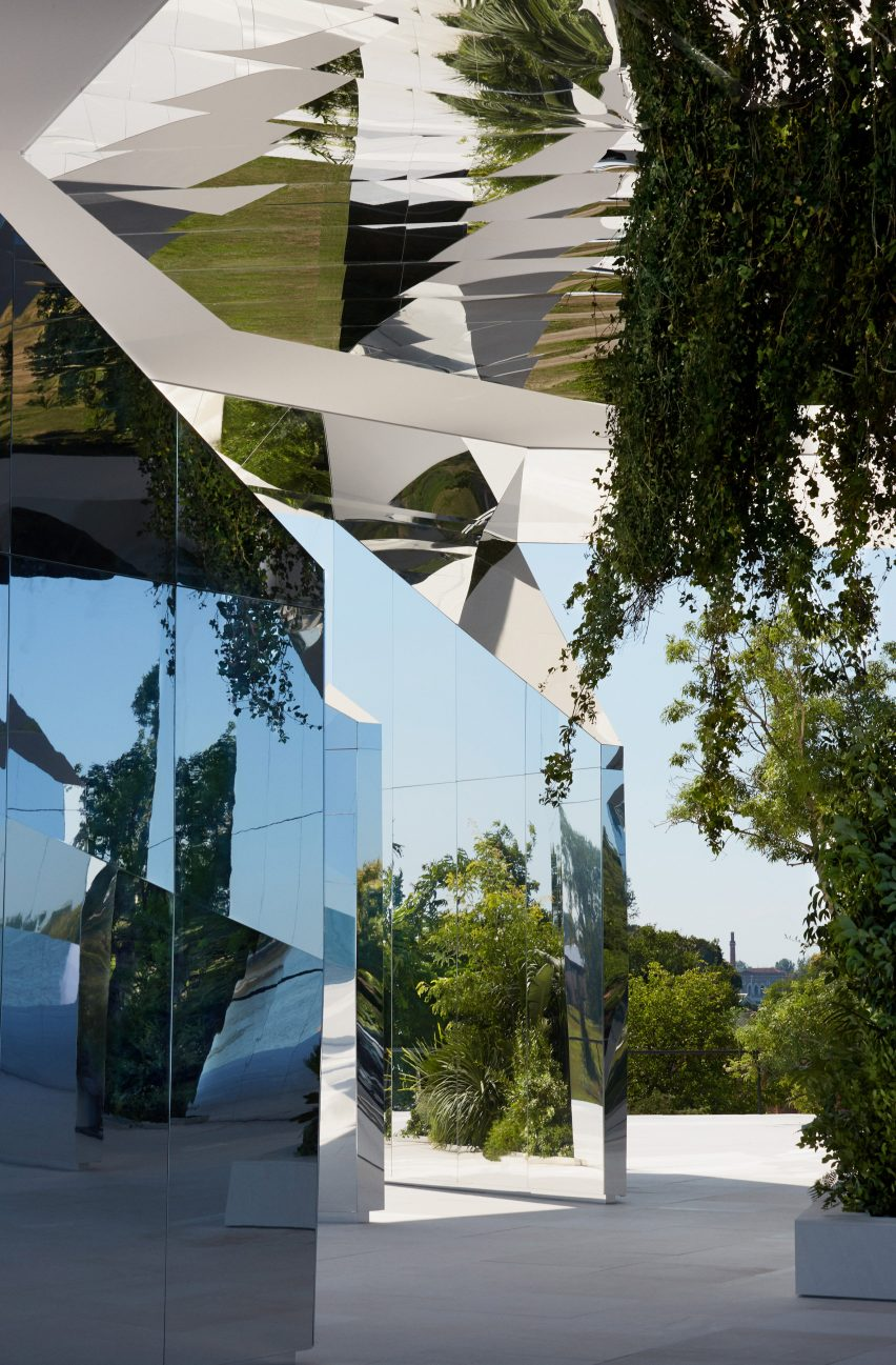 The installation is by Doug Aitken