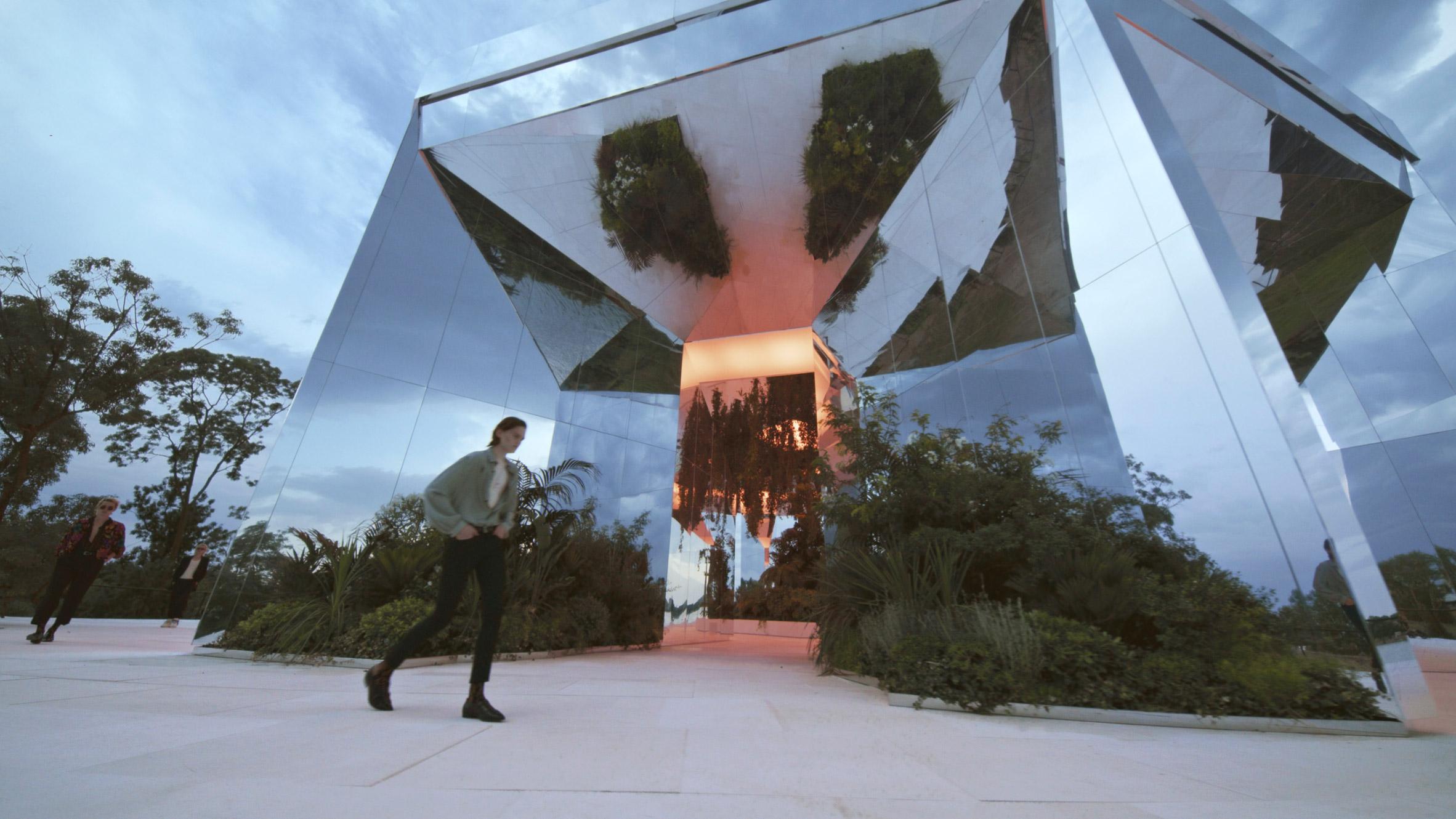 Aitken called his installation Green Lens