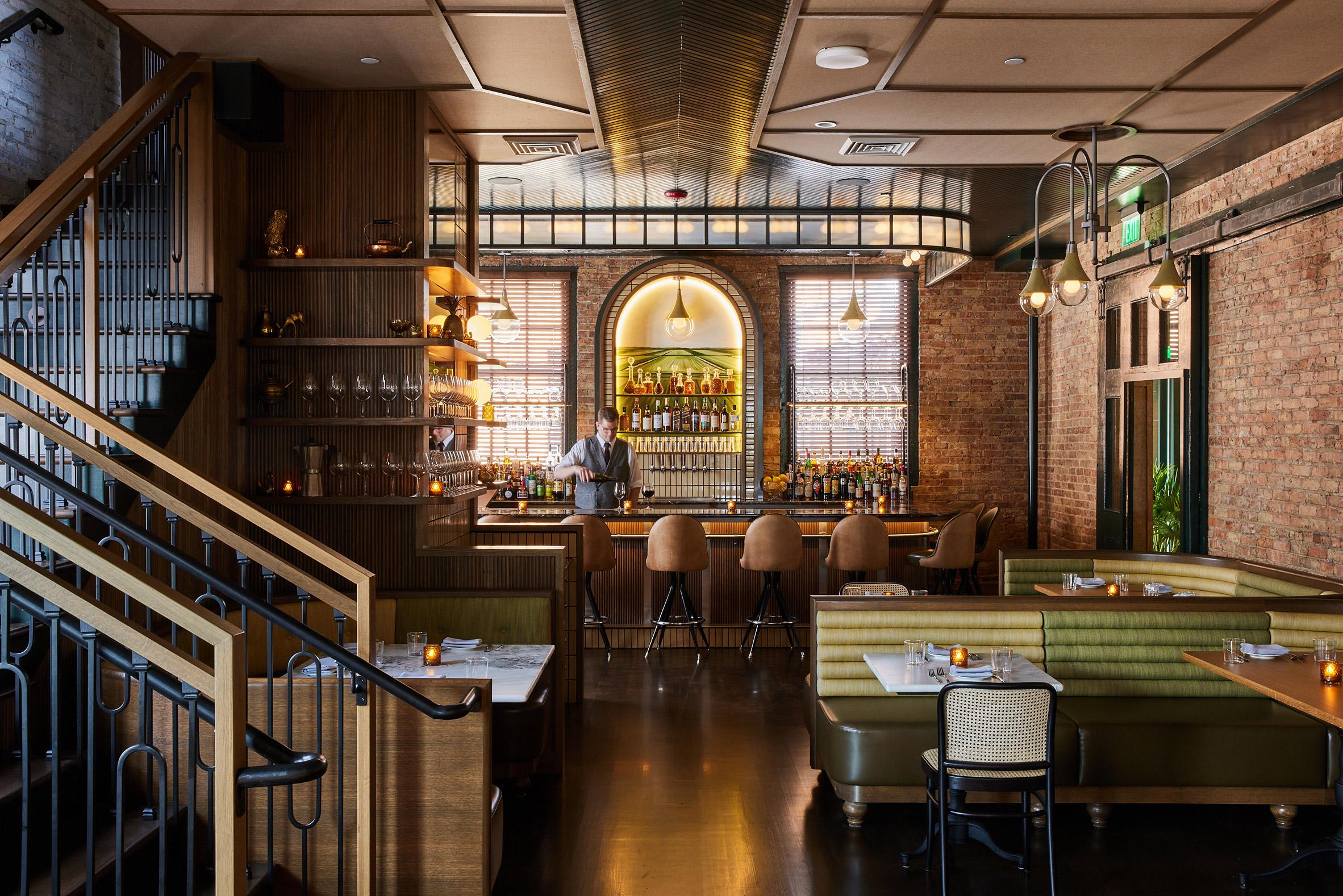 Ground floor of The Harvey House restaurant